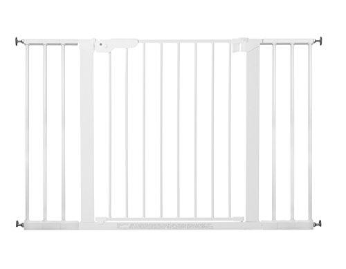 Baby Dan Premier Barrière à Fixation par Pression pour Porte/Escalier, Blanc, 112 - 119,3 cm
