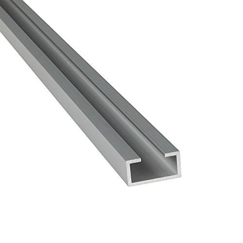 Alu C-Profil ELOXIERT 13x22x6x2,75 mm (M10 Schraube) x 2.000+-4 mm