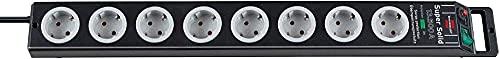 Brennenstuhl 1153380318 Edv-Zubehöre Super Solid Überspannungsschutz-Steckdosenleiste 8-fach schwarz/lichtgrau