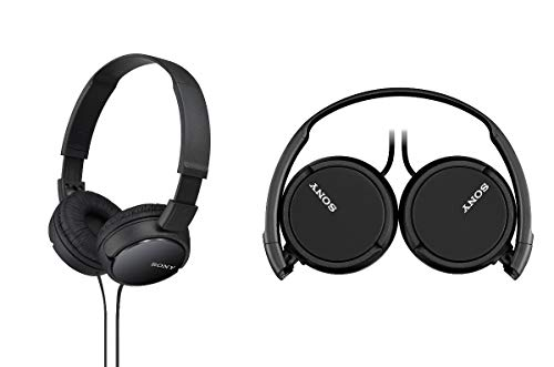 Sony MDR-ZX110 Stereo Headphones Loud and Clear Sound Quality - Black