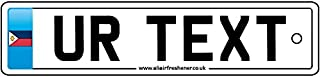 Personalised Philippines Number Plate Car Air Freshener
