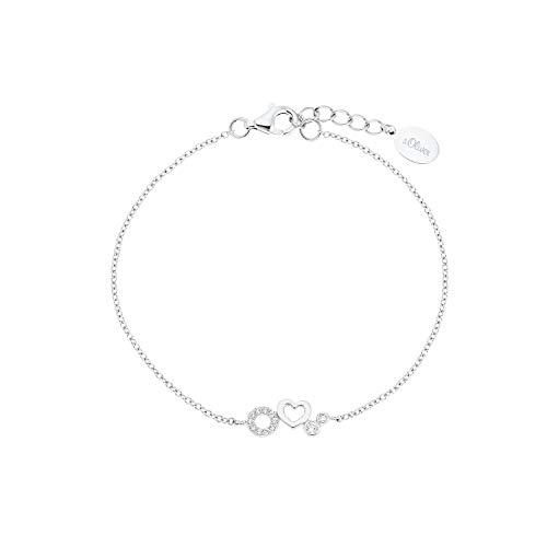 s.Oliver Armband für Mädchen, 925 Sterling Silber | Herz