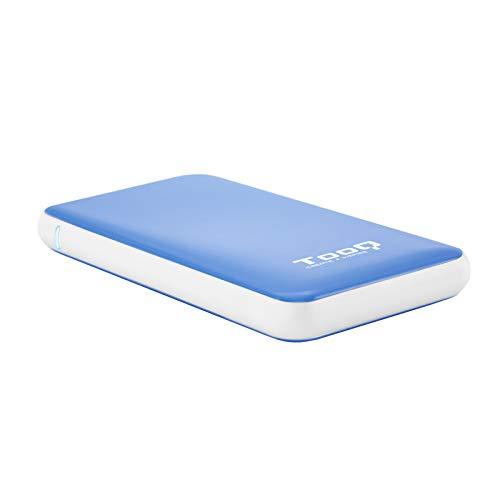 """TooQ TQE-2528BL - Carcasa para discos duros HDD de 2.5"""" (SATA I/II/III hasta 9.5 mm, USB 3.1) color azul"""