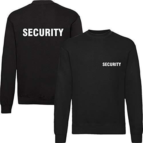 T-Shirt Security | Crew | Ordner | WUNSCHTEXT | Poloshirt | Hoodie | Jacke | Warnweste (XL, Security - Sweatshirt)