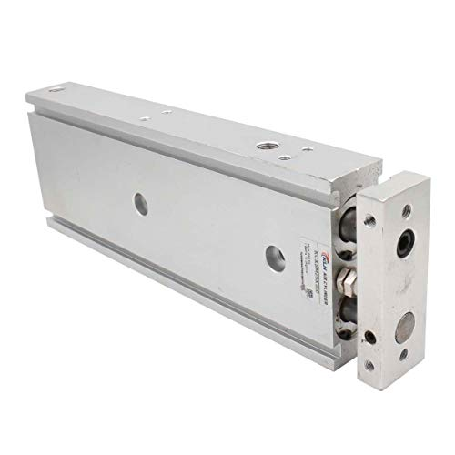 Baomain Compact Aluminum Air Cylinder CXSM 25 X 200 Guide Rod Plate Double Rod Guided Pneumatic Slide Bearing Cushioned