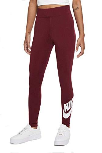 Nike Sportswear CJ2297-638 - Leggings para mujer, color oscuro y blanco Dark Beetroot/White M