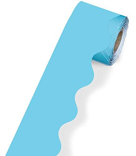Light Blue Rolled Bulletin Board Borders, Carson Dellosa Classroom Decorations, 36 Feet