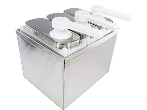 KUNHEWUHUA 3L Saus Dispenser Pomp RVS Condiment Pomp Station voor Salade Jam kruiden Saus Squeeze