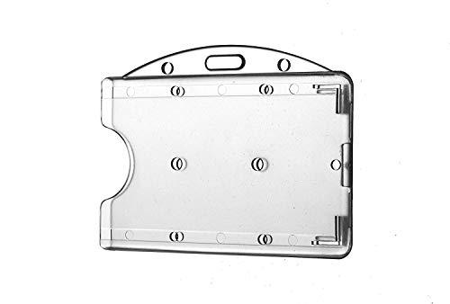 Waizmann.IDeaS 5 x korthållare ID-fodral ID-kortshållare av hårdplast polykarbonat namnskylt HORIZONTAL