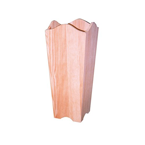 greca Paraguero con Ondas de Madera. En Crudo, para Pintar. Medidas (Ancho*Fondo*Alto): 22 * 22 * 58 cm.