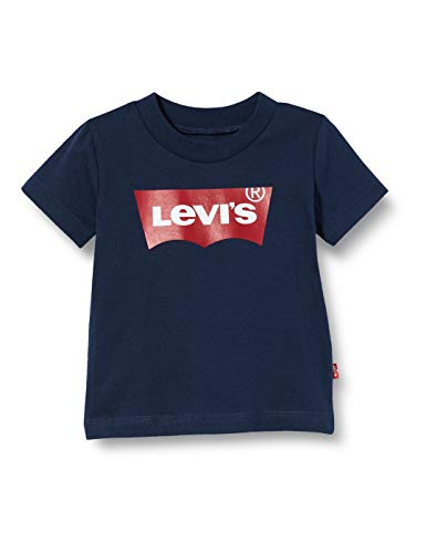 Levi's Kids Lvb S/S Batwing Tee Camiseta Bebé-Niños Dress Blues 3 meses