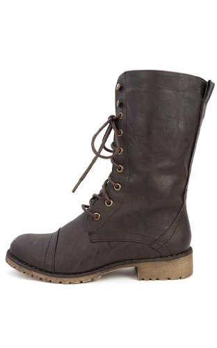 Lug 11 Militärstiefel für Damen, zum Schnüren, Braun (Premium Brown), 40 EU