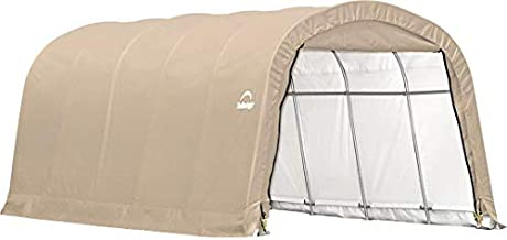 ShelterLogic Replacement Cover 12Wx20Lx8H Round Garage in a Box 90541 805040 for Model 62780 (14.5oz Tan)