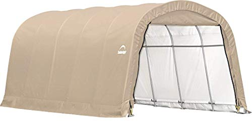 ShelterLogic Replacement Cover 12Wx20Lx8H Round Garage in a box 90603 for model 62779 (14.5oz PVC Tan) -  805040 90603