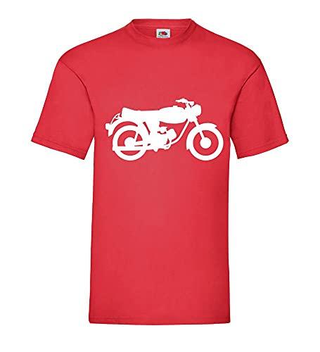 shirt84.de Tomos 15 SLC - Camiseta para hombre, rojo, XXXL