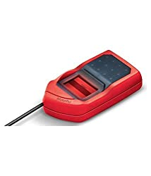 Safran Morpho USB 1300E3 Fingerprint Biometrics MSO OTG(All-in-one version) for Aadhaar eKYC and Sim Activation, 2.5x13(Red and Black),Safran,MPH-SE002A