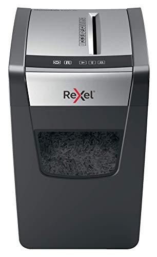 Rexel Momentum X410-SL Slimline Destructeur Coupe Croise, Jusqu' 10 feuilles, Corbeille 23L, Noir, 2104573EU