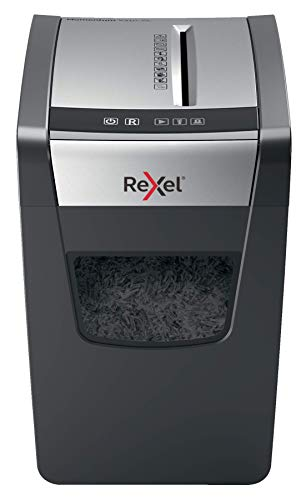 REXEL Momentum X410-SL Slimline Distruggidocumenti, 10 Fogli, P-4 Taglio a Frammenti (Slimline), Grigio, 2104573EU