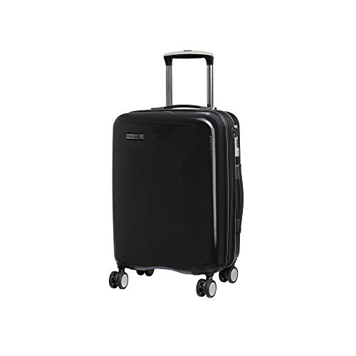 it luggage Signature 8 Wheel Hard Shell Single Expander Suitcase Cabin with TSA Lock Maleta, 53 cm, 46 Liters, Negro (Black)