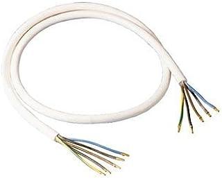 bornes de connexion color/ées pour les c/âbles inclus et 10 x embouts assortis Blanc Prise de raccordement de cuisini/ère avec c/âble de raccordement H05VV-F 5G 2,5 mm2 de 2 m