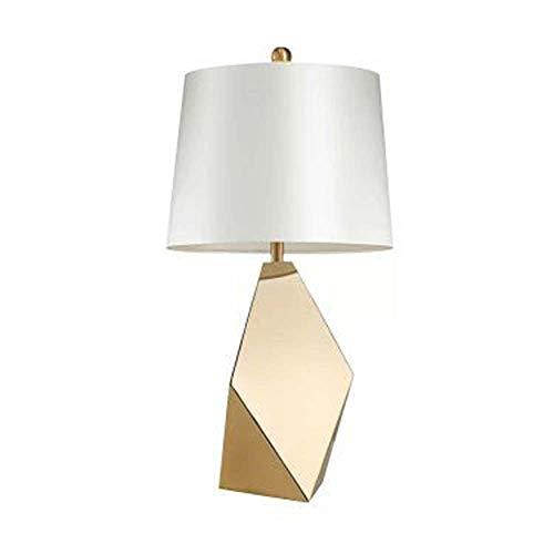 Hancoc Lámpara de mesa moderna de hierro dorado de lujo de hierro lámpara de mesa dormitorio sala de estar arte polígono metal lámpara de mesita de noche