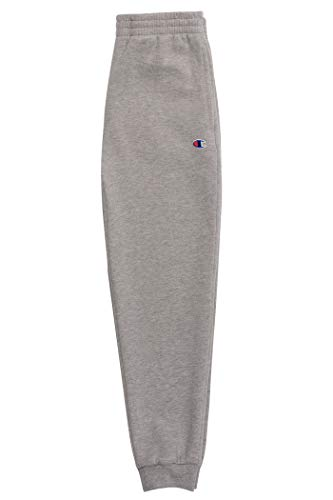 Champion Boys Sweatpant Heritage Collection Slim Fit Brushed Fleece Big and Little Boys Kids (X-Large, Oxford Heather)