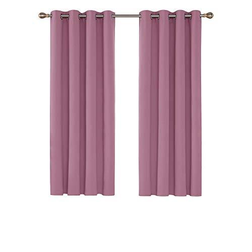 cortinas habitacion rosa empolvado