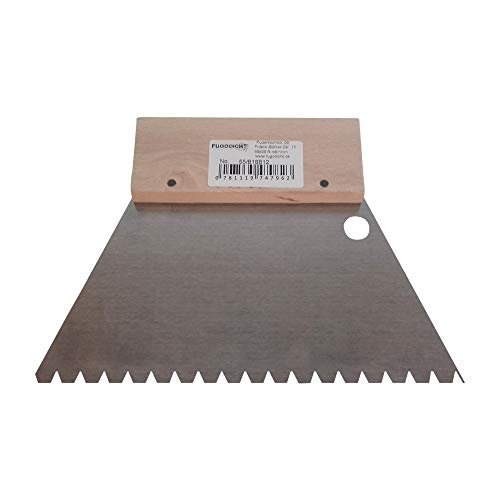 Fugodicht Leim Klebstoff Zahnspachtel Bodenleger Normalstahl B12 5.0x5.0mm gezahnt 180mm