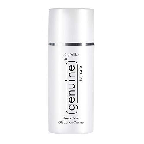 genuine haircare Keep Calm Glättungs Creme, für alle Haartypen, vollwertiger Hitzeschutz für Glätteisen, pflegt/vitalisiert das Haar, 100 ml
