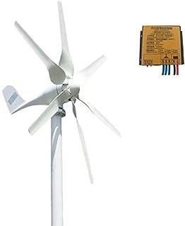 FLYT Turbina Eólica 800W 24V Aerogenerador Horizontal Pequeño Generador de Viento de Uso Doméstico, Molino de Viento de 6 Cuchillas Met Laadregelaars