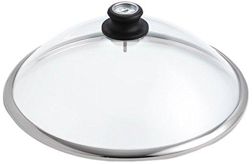 Lotusgrill Standard-Edelstahl Glashaube mit Thermometer