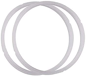 Power Pressure Cooker Sealing Ring Clear Color Multi-Cooker Rubber Gaskets for Many 5 Liter 6 Liter 5 Quart and 6 Quart Models 2 Sets