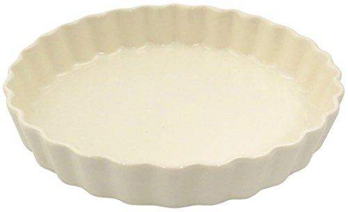 三陶 キッシュ 大 ホワイト立筋 06596 萬古焼 オーブン対応
