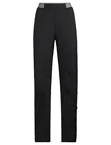 VAUDE Women's Vatten Pants Pantalon de Pluie léger et Sportif pour Le Cyclisme Femme, Black, FR : S (Taille Fabricant : 36)