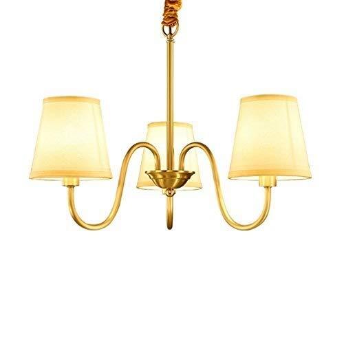 Kroonluchter hanglamp lamp afbeelding Cloth koper doek Amerikaans dorp gesmeed alle koper koper intelligente stofzuiger dubbele hangplafondlamp