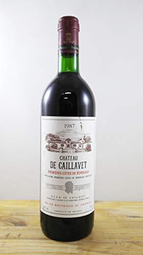 Wein Jahrgang 1987 Château la Caillavet Flasche