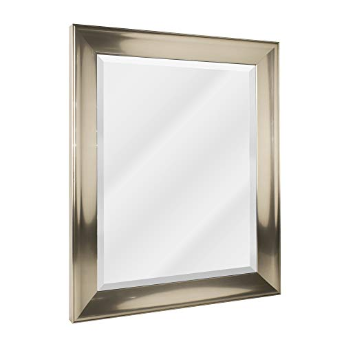 Review Head West Transitional Brushed Mirror 29 By 35 Inch Nickel Impeccancy Gt