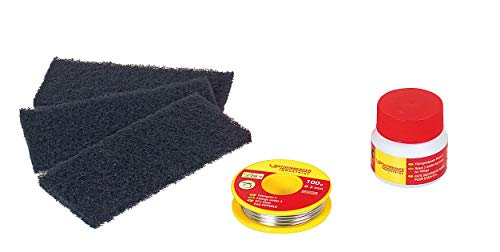 ROTHENBERGER Industrial 5-teiliges Weichlötset inkl. 3 x Reinigungsvlies, 1 x Flussmittelpaste , 1 x Fittingslot - 45227
