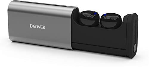 Denver Bluetooth True Wireless In-Ear hoofdtelefoon 'TWE-60' met geïntegreerde microfoon, touch-functie en tot 5 uur muziekweergave, zwart