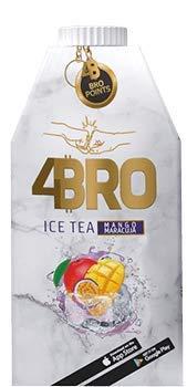 4Bro - Ice Tea Mango Marajuca 500ml | der Eistee für Gamer. Shisha und Eis Tee Liebhaber