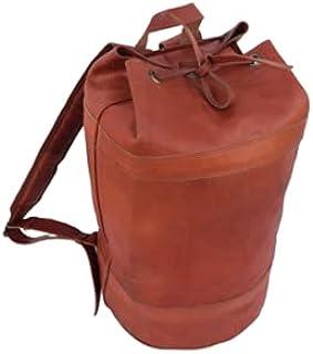Vintage Leather Backpack Shoulder Bag Sports Gym Yoga Fitness Training Rucksack Handbags Travel Luggage Bags Unisex 20 Inch