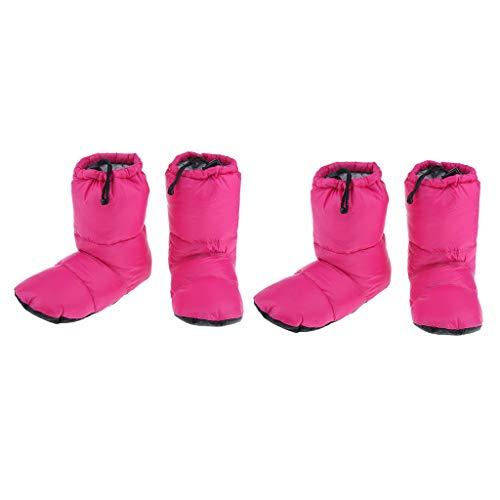 perfeclan 2 Pares Zapatillas De Invierno Cálidas Zapatillas