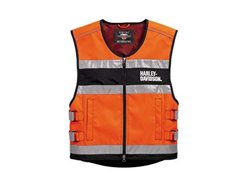 HARLEY-DAVIDSON Hi-Visibility Orange Reflective Vest Warnweste, 98157-18EM, M