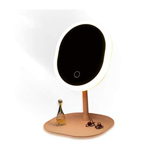 SSBH Espejo de vanidad NL Maquillaje Espejo con Espejos led Espejo de pie, Espejo táctil, Espejo, retroiluminado, retroiluminado, Escritorio, Espejo cosmético, Espejo compensación
