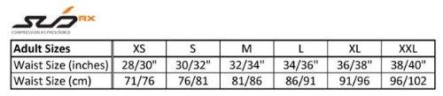 Sub Sports Herren RX Abgestufte Kompressionshose Funktionswäsche Base Layer kurz, Schwarz/Orange, XS, SUBRXS - 3