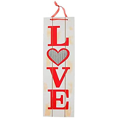 Valentine S Vertical Love Words Wall Sign White Wooden Plaque Wood Planks Home Front Door Hanging Signs For Boyfriend Girlfriend Wedding Party Teacher Wife Husband Mom Special Day Indoor Decor Hanger Home