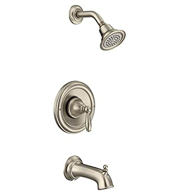 Moen T2153EPBN Brantford Posi-Temp Pressure Balancing Eco-Performance Tub and Shower Trim Kit Valve Required, Brushed Nickel