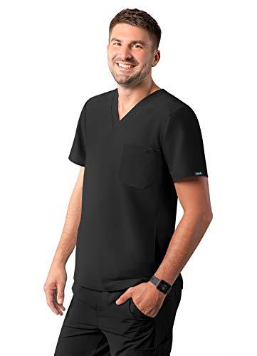 Adar Uniforms A6010BLKM Camisa de Traje mdico, Negro, M para Hombre