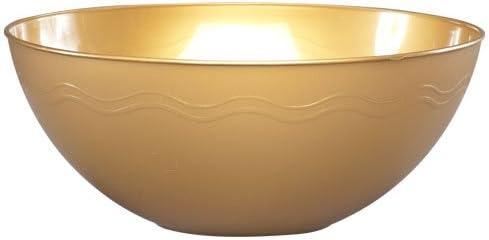 Party Dimensions 62954 60 Oz Max 86% OFF Gold 50 Bowl Serving - New product Per Plastic
