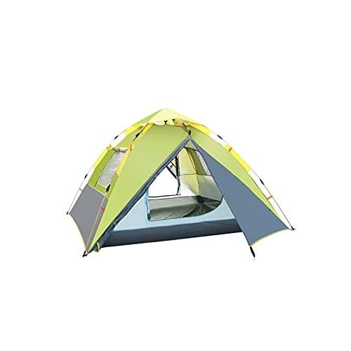 KJLY Tiendas de campaña Camping Tienda 3 Hombre Espesano Tiendas emergentes Camping Camping Familia Al aire libre Portátil Playa Tent Sun Refugio Protección Tienda impermeable, 215 * 215 * 155cm / 84.
